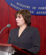 Macedonian Minister of Foreign Affairs Ilinka Mitreva