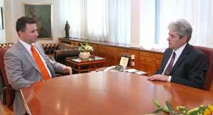 Nikola Gruevski Ali Ahmeti FYROM Pressed For Name Settlement